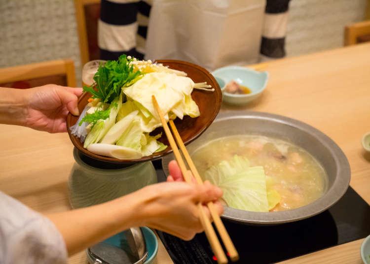 放入雞肉的各部位與蔬菜