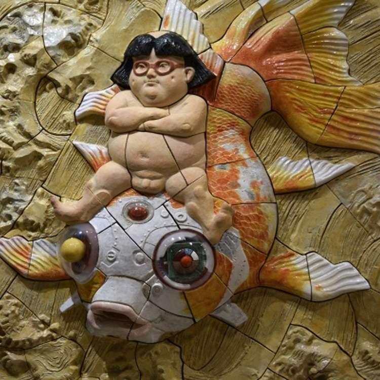 Sangat menarik !  Tur relief keramik di Creare Atami Yugawara Studio