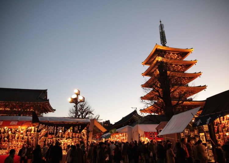 Asakusa's Colorful Hagoita-Ichi Festival