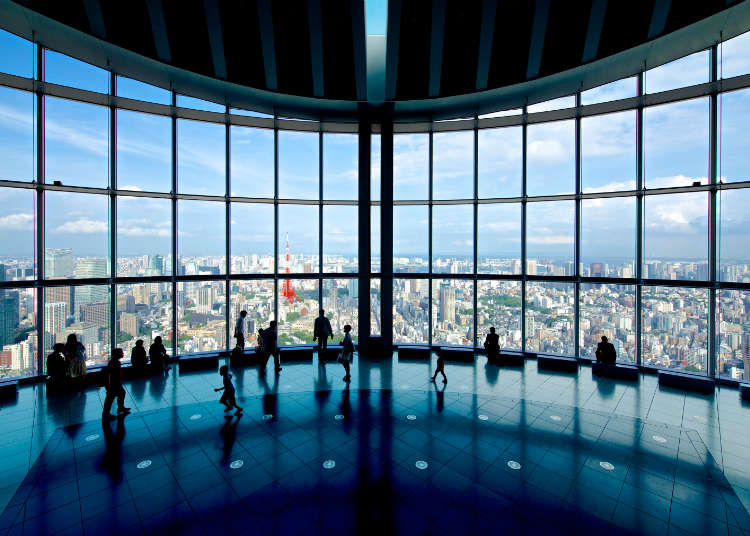 一览东京新旧地标和富士山