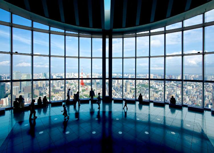 東京的新舊地標與一覽無遺的富士山