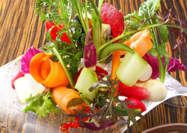 新鮮野菜を使ったイタリアン