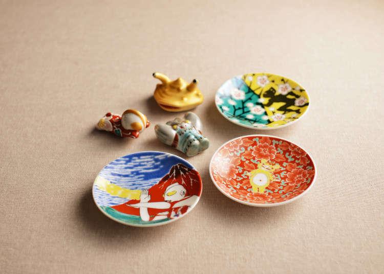 「九谷焼」の鮮やかな和絵具で彩色された食器