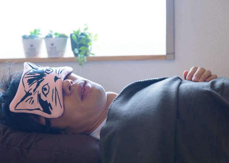 「猫アイマスク」で二日酔いせず最高にすっきり!