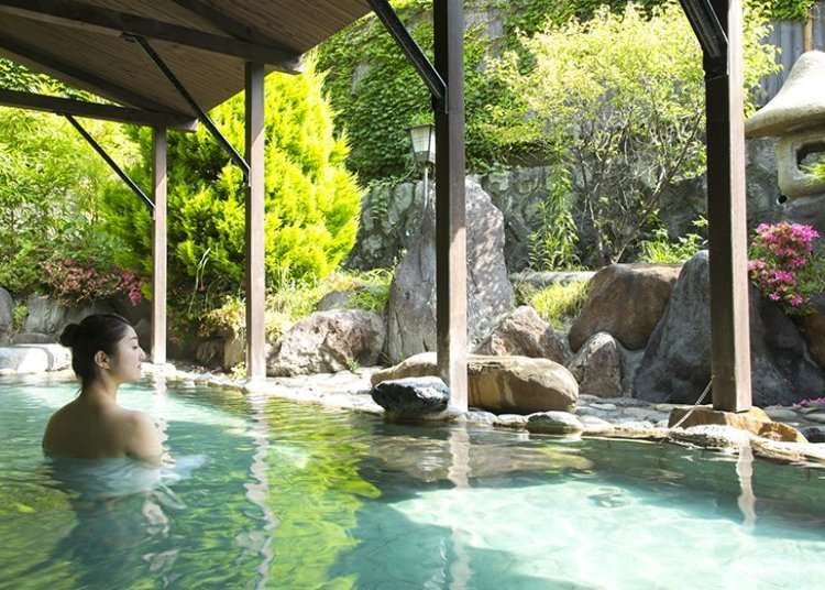 One-day hot spring for one-day visitors