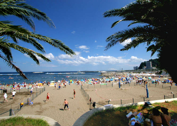 Atami Sun Beach: Resort area with a tropical atmosphere!