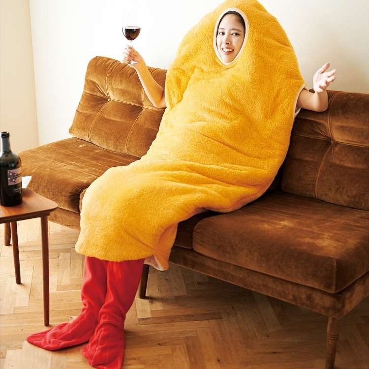 Get Toasty AND Tasty With the Unique Fried Shrimp Sleeping Bag!