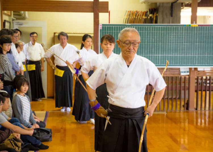 目黑区国际交流协会(MIFA)举办的弓道体验