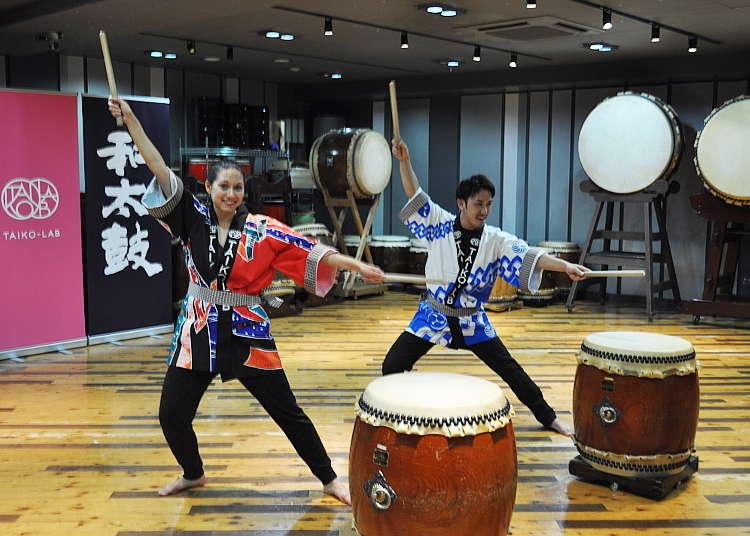 在TAIKO-LAB体验和太鼓的乐趣