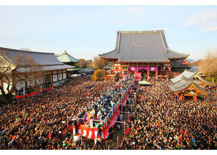 Setsubun at Ikegami Honmon-ji - Driving Out the Demons!