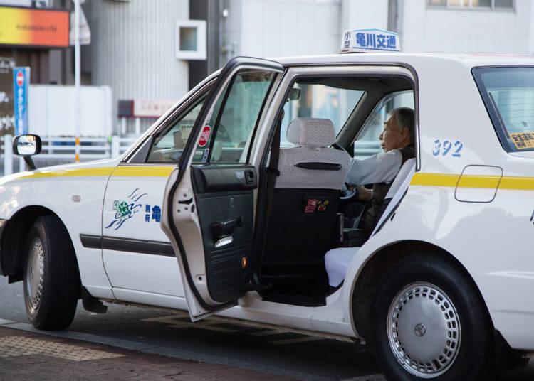 タクシーが自動で開く?!魔法のドア!