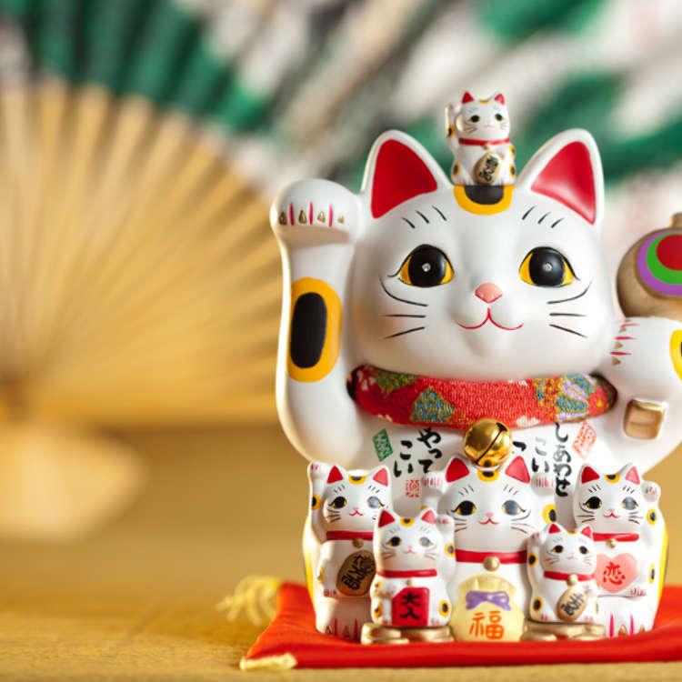幸せを呼ぶ「招き猫」