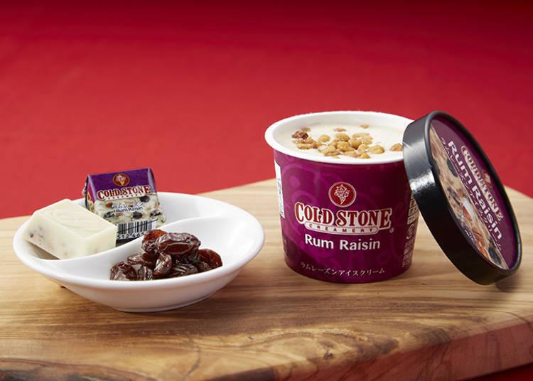 Savor the Amazing Cold Stone Rum Raisin Ice Cream at 7-Eleven Konbini Stores!