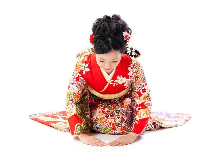 일본의 '오지기(머리를 숙이는 인사)'의 문화