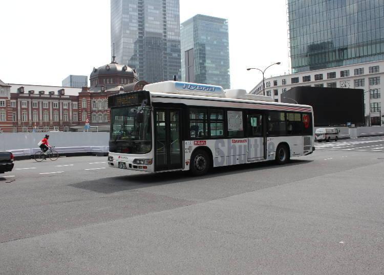 """巡回于""""东京""""车站附近的""""丸之内穿梭巴士"""""""