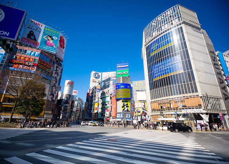 Shibuya Crossing Area