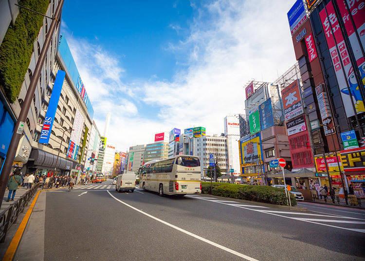 Kawasan Ikebukuro pintu bahagian timur
