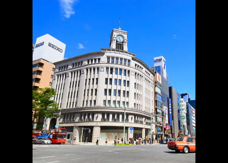 Spots in Tokyo's Popular Ginza Area | Map and Information