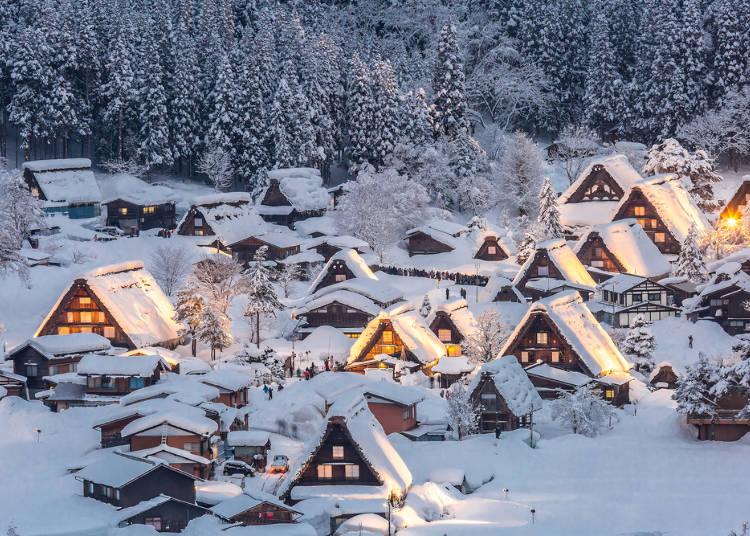 現代に残る古民家の村落や町並は観光スポットに