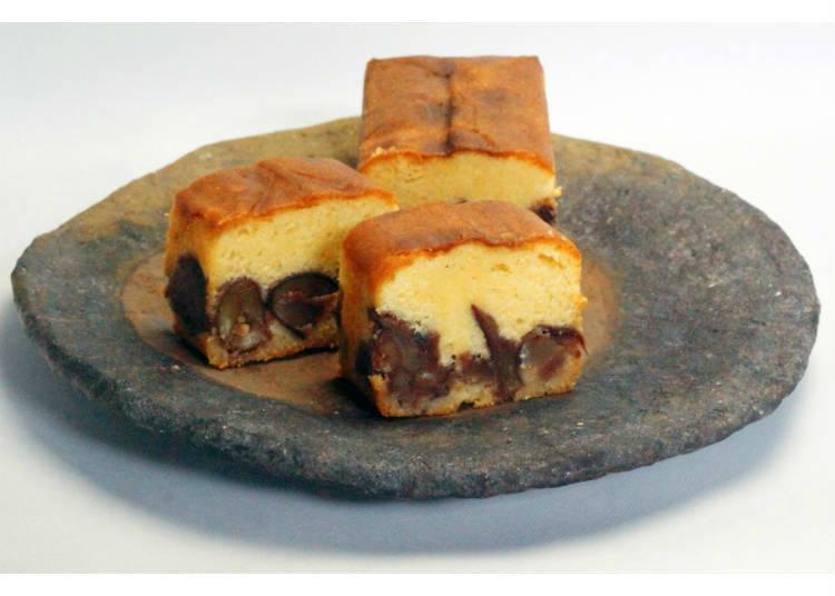 「足立音衛門」の和栗のケーキ