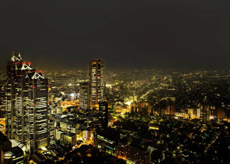 Suasana malam di Shinjuku