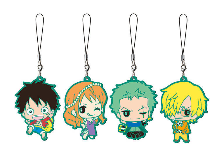 One Piece Rubber Charms for Your Phone and Bag!