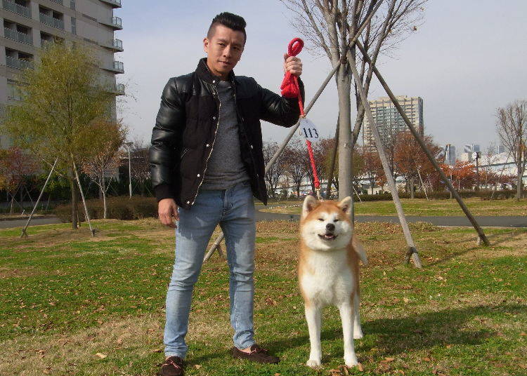 東南アジア出身の秋田犬ファンを発見