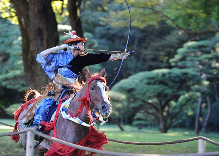 10月・11月:在外国观光客中好评如潮!骑射比武等古武道的大集合