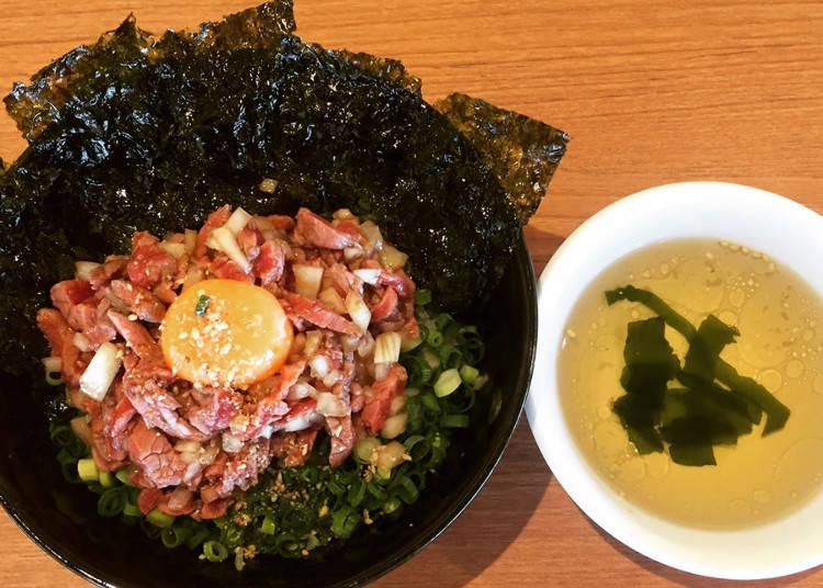 ユッケ風ローストビーフ丼