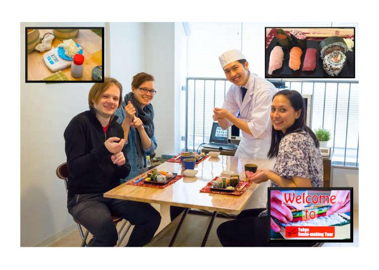 学习、制作、食用!东京手握寿司制作体验