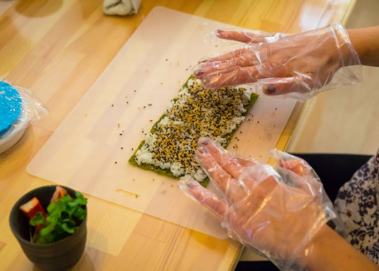 巻き寿司作りに挑戦