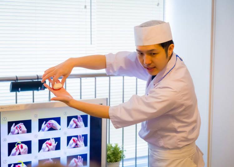 以外國人為對象的握壽司製作體驗教室