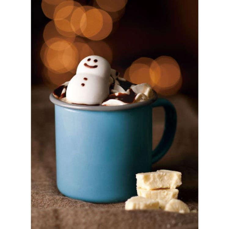 首次全国发售!点缀着雪人的塔利咖啡饮品