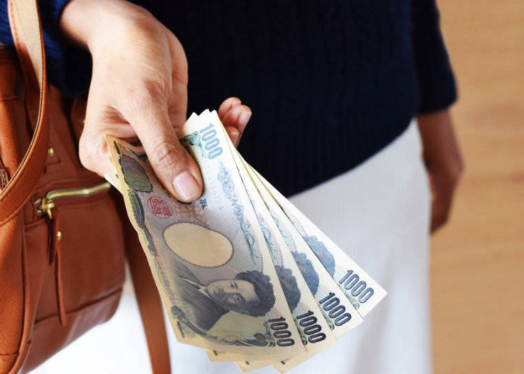 Paying with Cash in Japan