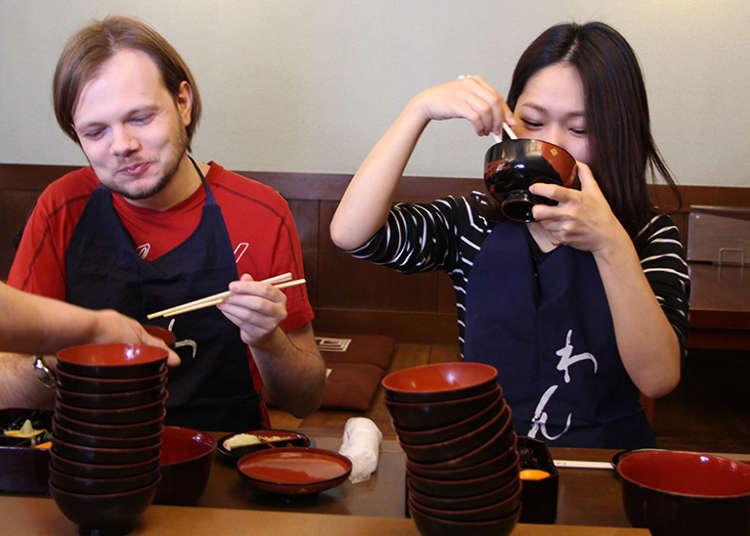 フランス人と日本人美女はわんこそばを何杯食べられるのか!?「クレイジー」と言いながら激戦を繰り広げた
