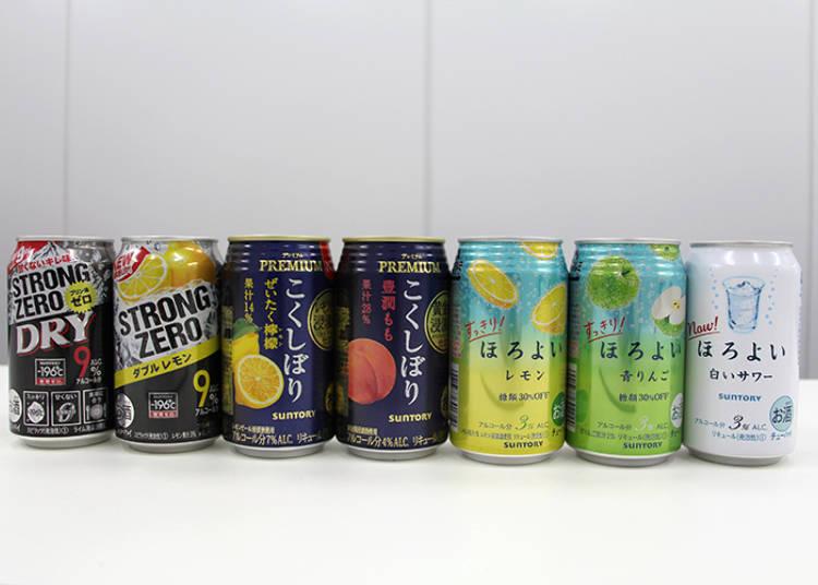 The Chuhai Tasting Lineup
