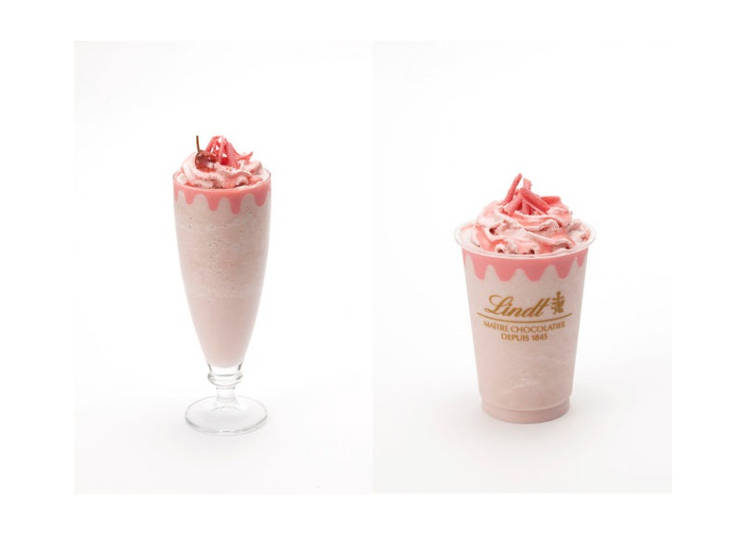 White Chocolate Sakura Ice Drink by Lindt