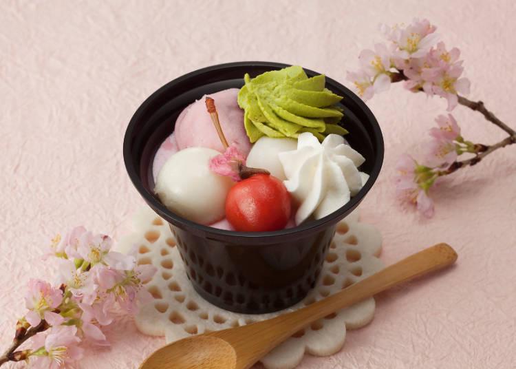 桜テイストの和風パフェ