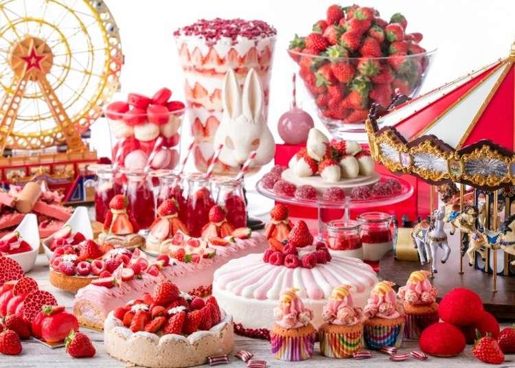 感知春天的草莓甜品自助餐,令人眼花缭乱!