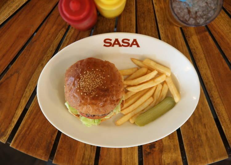 Grill Burger Club Sasa - a Sweet Japanese-Style Burger