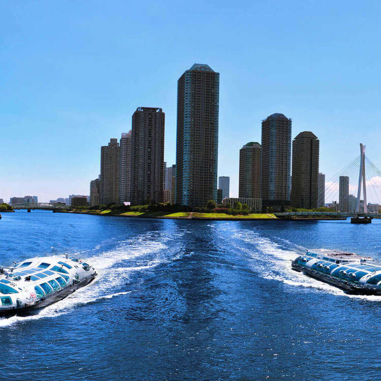 이동하며 도쿄의 수변 관광도 즐길 수 있는 수상교통을 이용해 보자
