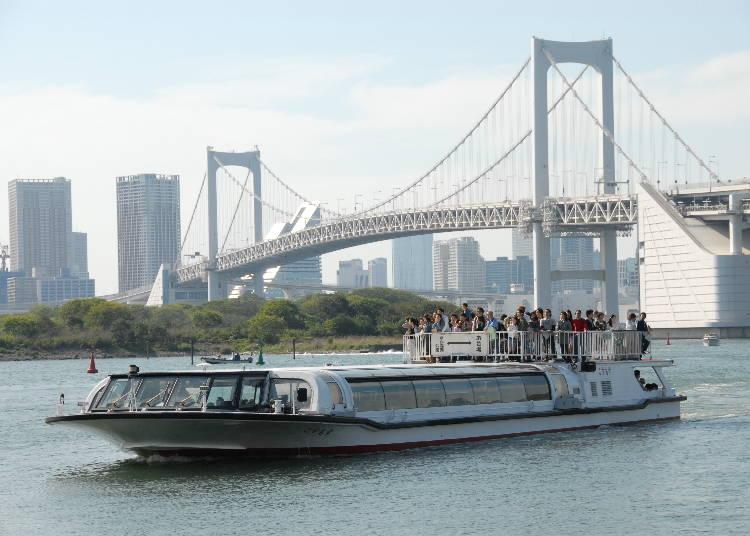 東京の端まで運航する「東京水辺ライン」
