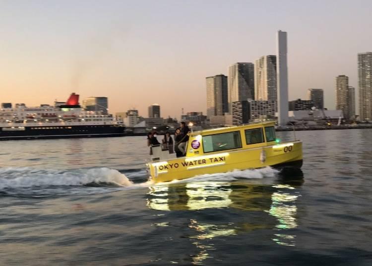 日本首家按乘客需求航行的水上出租车