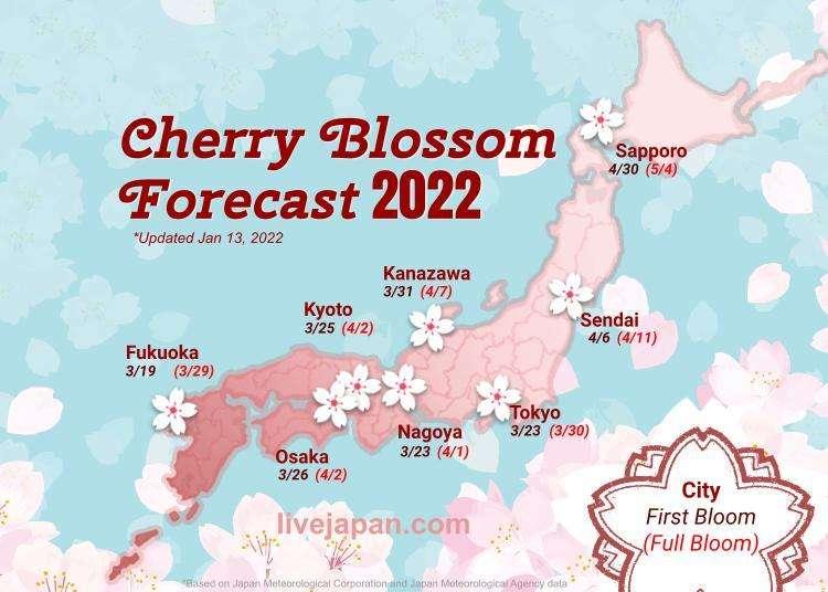 Japan's 2018 Cherry Blossom Forecast