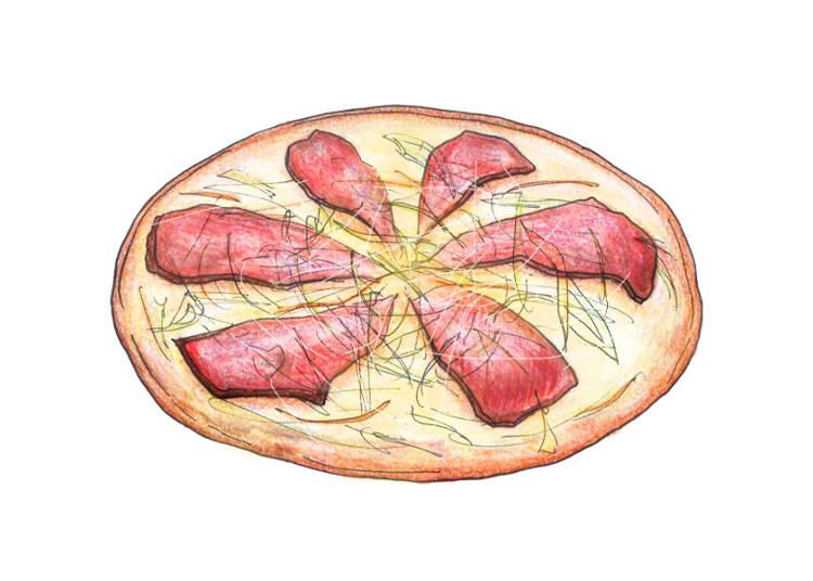 Chashu Pork Pizza