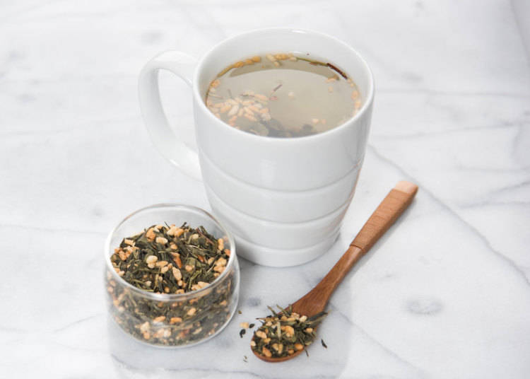 Genmaicha (Roasted Brown Rice Tea): 玄米茶