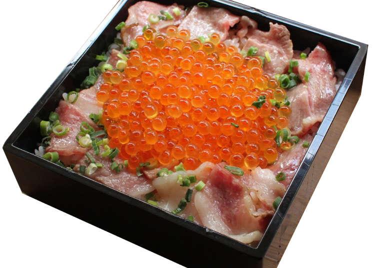自由之丘美食,頂級沙朗牛肉的鮭魚卵便當,排隊再久也想吃!