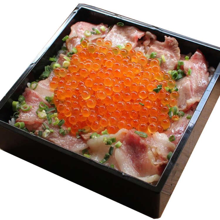 排队也想品尝!分量满满烤牛腰肉鲑鱼子套餐