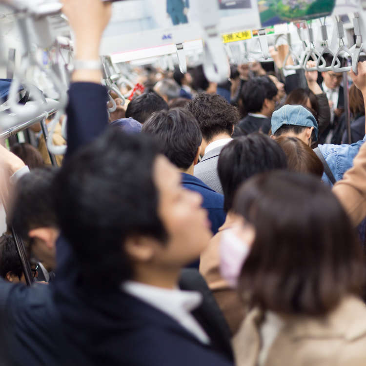 도쿄의 '만원 전철'을 재현해 보다!