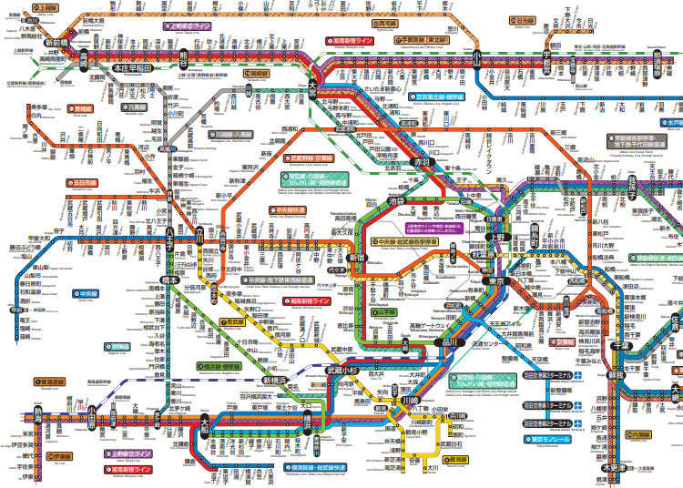 東京路線図まとめ